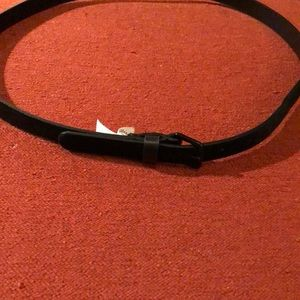 Faux Fur Black Belt